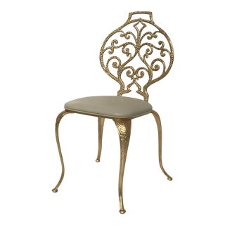 Gold Leaf Vanity Chair