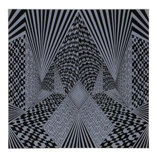 """1960s Roy Ahlgren, """"Conceptual Perspective Ii"""", Op Art Screenprint For Sale"""