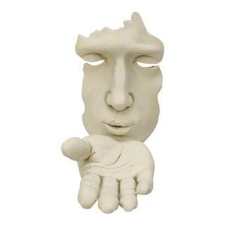 Modernist Kiss Hand Sculpture For Sale