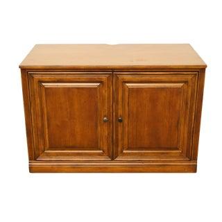 "20th Century Traditional Sligh Furniture the Ellis Line 45"" Office Storage Computer Desk/Media Cabinet For Sale"