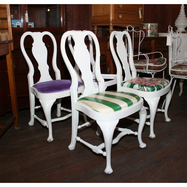 Queen Anne 1940s Vintage Dorothy Draper Side Chairs- Set of 4 For Sale - Image 3 of 21