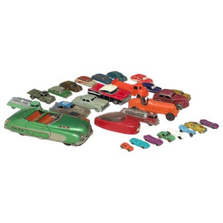 1950s Vintage Toy Cars - 28 Pieces For Sale