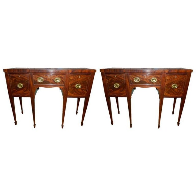 Brandy Mahogany Sideboards or Buffets, 19th Century - A Pair For Sale - Image 9 of 9