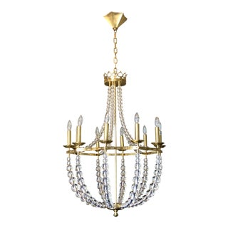 Robert Abbey Williamsburg Coronet Chandelier For Sale