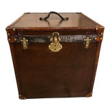 Image of 1910s Vintage Leather Trunk For Sale
