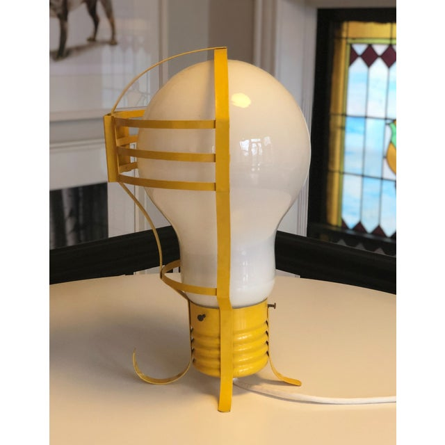 1960s Opalescent Light Bulb Lamp For Sale - Image 4 of 8