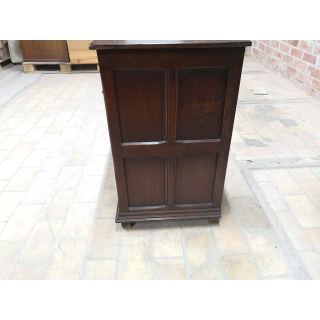 Brown Early 20th C. French Country Oak Sideboard Credenza Buffet Server For Sale - Image 8 of 13