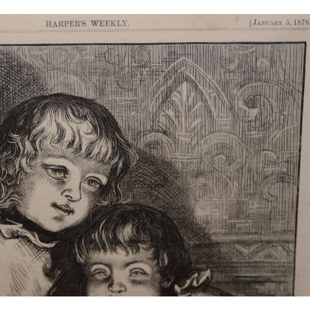 "Paper Thomas Nast ""A Christmas Sketch"" for Harpers Weekly C.1878 For Sale - Image 7 of 10"