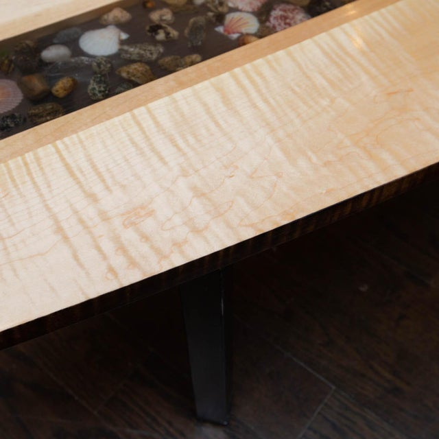 2010s Custom Made Surfboard Coffee Table For Sale - Image 5 of 11