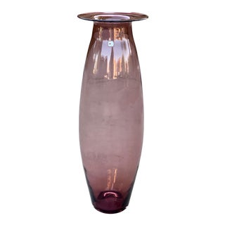 Vintage Labeled Blenko Floor Vase For Sale