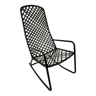 Brown Jordan Tamiami Metal Outdoor Rocking Chair For Sale