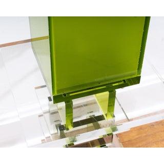 Shlomi Haziza Green Acrylic Table Lamp and Side Table Preview
