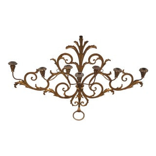 Gilded Gold Metal Wall Sconce For Sale
