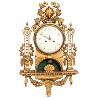 Gilt Swedish Cartel Wall Clock For Sale