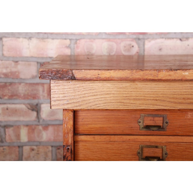 Antique Oak 57-Drawer Cabinet, Circa 1920s For Sale - Image 12 of 13