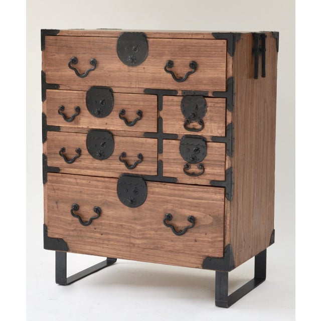 Asian 19th Century Japanese Tansu With Hand Forged Hardware For Sale - Image 3 of 11