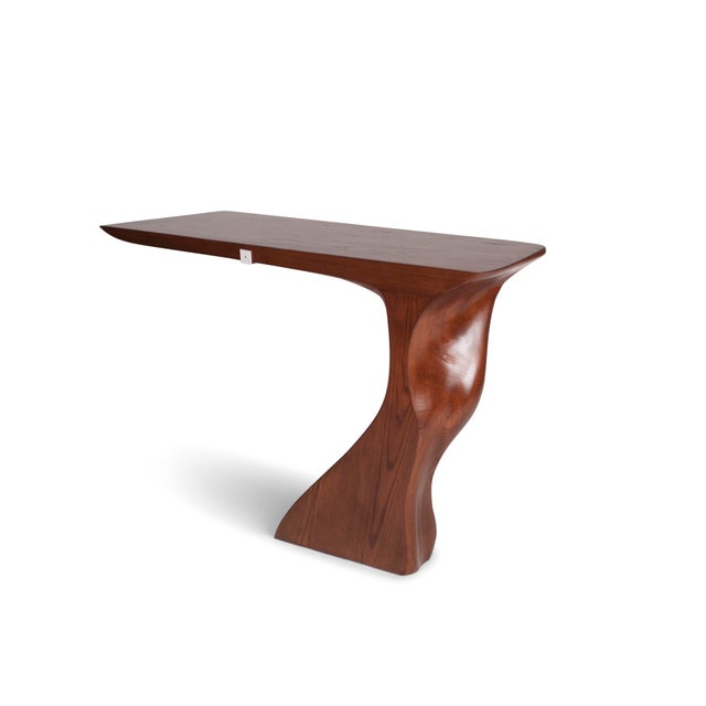 Amorph Frolic Console Table, Wall Mounted - Walnut Stained For Sale - Image 10 of 12