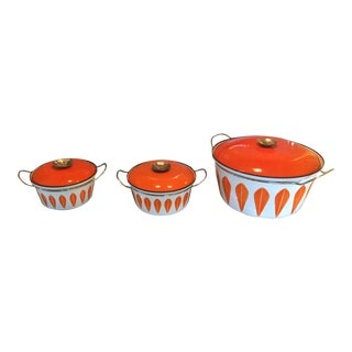 1960s Contemporary Catherine Holm Lotus Dutch Oven Set - 3 Pieces
