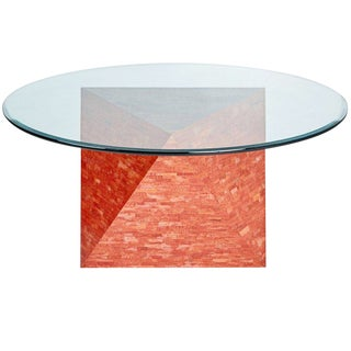 Maitland Smith Red Polyhedral Dining Table, Circa 1990, Signed For Sale