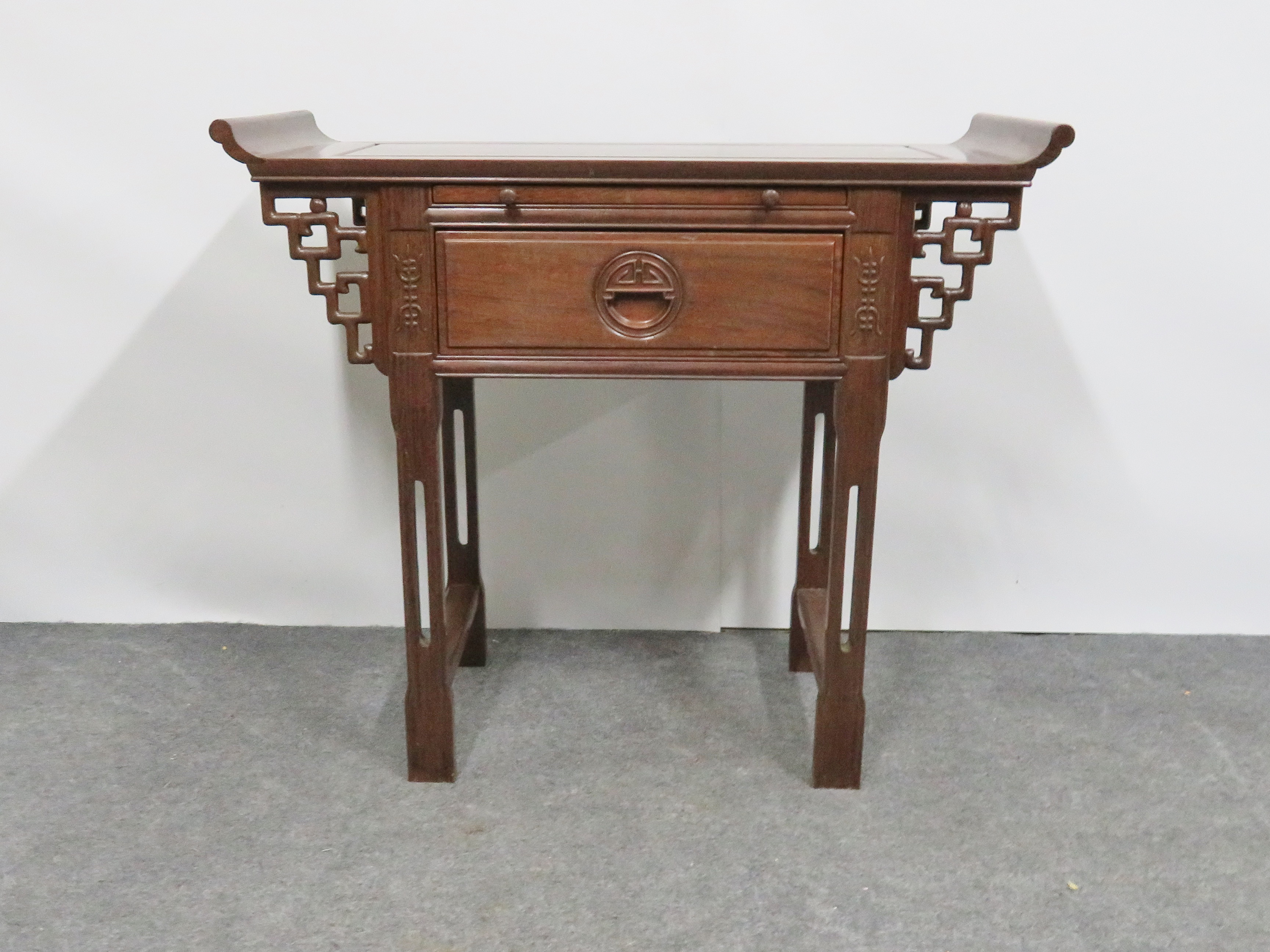 Elegant Chinese Rosewood Altar Style Console Table For Sale In Philadelphia   Image  6 Of 7