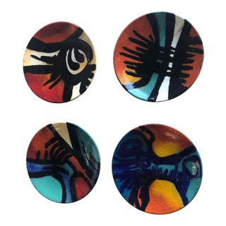 Enamel Plates by Rucni Rad 35 Decor Zagreb-Set Of 4 For Sale