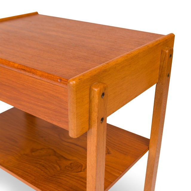 Vintage Danish Mid-Century Teak Nightstands (Pair) For Sale - Image 9 of 11