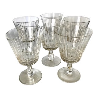 "Crystal Water Goblets by Royal Leerdam - Netherland ""Royalty"" - Set 6 For Sale"