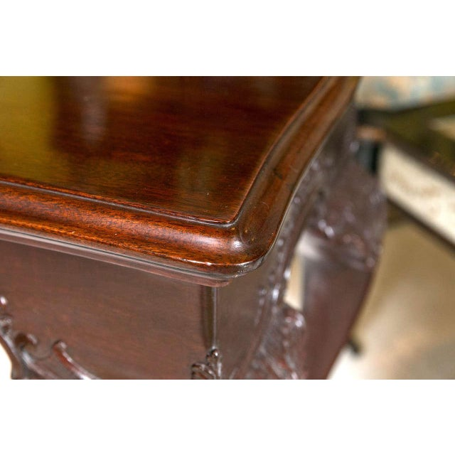 Brown English Georgian Mahogany Console Tables - A Pair For Sale - Image 8 of 10