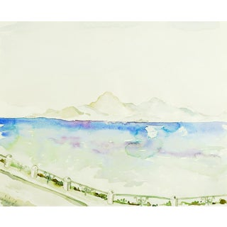 Island of Rhodes Greece Watercolor Study Painting For Sale