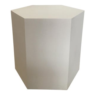Hexagonal White Side Table