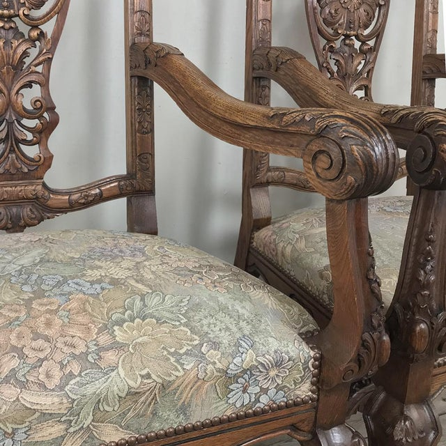 Pair 19th Century Liegoise Louis XIV Armchairs For Sale - Image 10 of 12