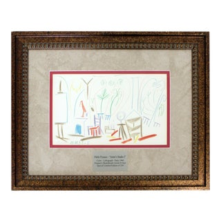 Mid Century Modern Pablo Picasso Artist Studio 1 Lithograph 1960 Ed. Of 250 For Sale