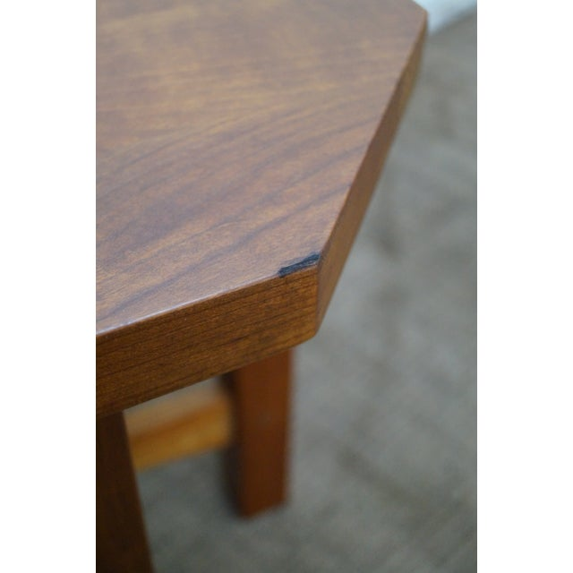 Stickley Mission Style Cherry Octagon Small Side Table Taboret Stand For Sale - Image 9 of 10