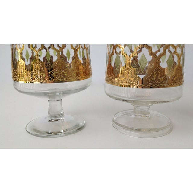"Culver ""Valencia"" Gilt Footed Containers - Pair - Image 8 of 9"