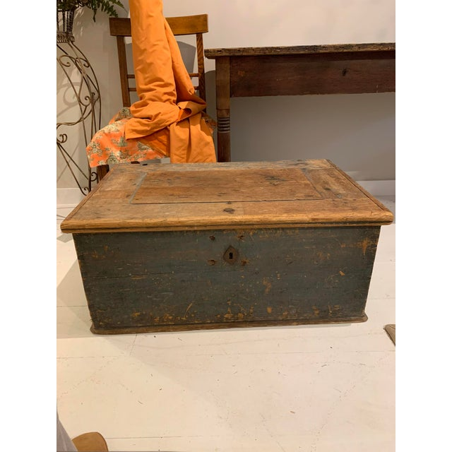 19th Century Patinaed Wooden Trunk For Sale - Image 12 of 12