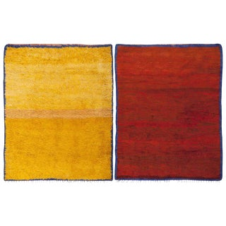 Vintage Moroccan Vibrant Double-Sided Rug - 6′ × 7′6″ For Sale