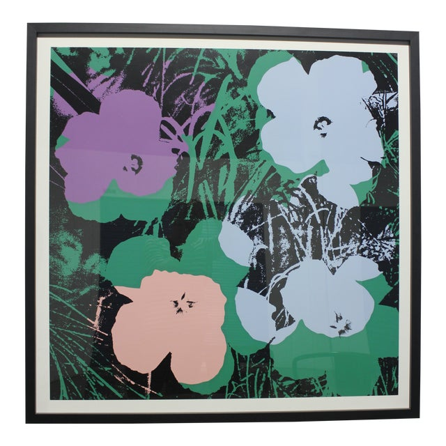 Sunday B. Morning Screenprint After Andy Warhol Flowers Framed For Sale