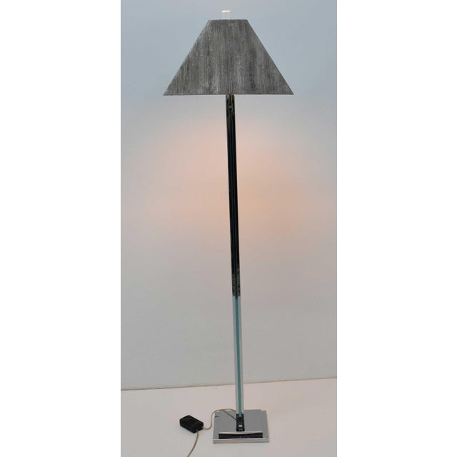 Chrome and Glass Floor Lamp For Sale In Dallas - Image 6 of 9