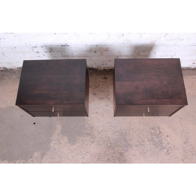 Brown Paul McCobb Planner Group Mid-Century Modern Nightstands, Newly Refinished - a Pair For Sale - Image 8 of 13