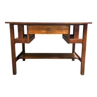 Arts & Crafts Quarter Sawn Oak Desk by Stickley Brothers For Sale