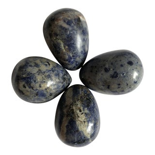 Sodalite Eggs Set of 4 For Sale
