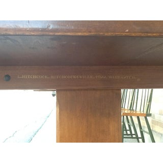 Vintage Traditional Maple Stenciled Hitchcock Trestle Table Preview