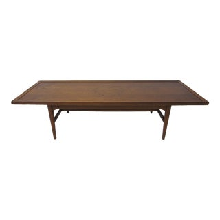 Walnut / Rosewood Coffee Table by Drexel and Kipp Stewart For Sale