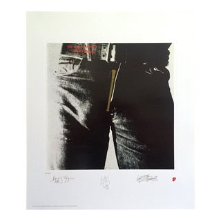 "Andy Warhol Rare Vintage 1994 Lmtd Edtn "" Rolling Stones Sticky Fingers "" Collector's Lithograph Print For Sale"