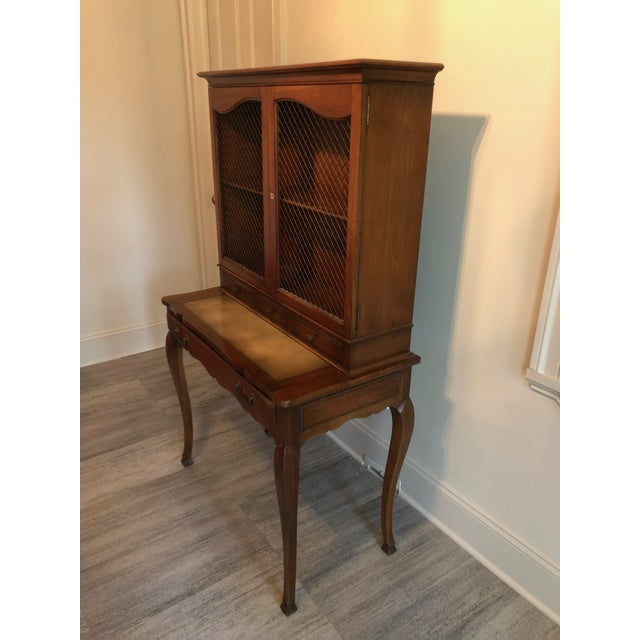 French Country Heritage Henredon French Country Style Secretary For Sale - Image 3 of 10