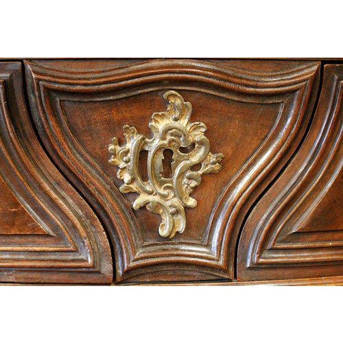 18th Century Bordeaux Louis XV Period Carved Walnut Bombé Commode - Image 5 of 10