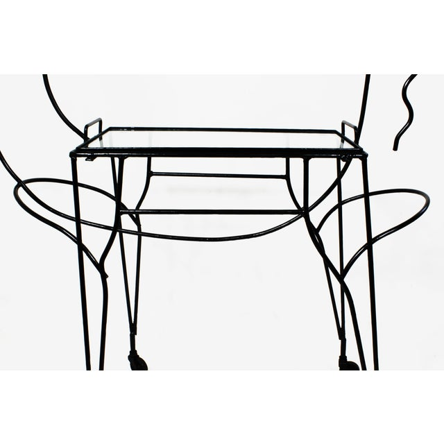 Black Mid-Century Horse-Form Bar Cart by John Risley For Sale - Image 8 of 12