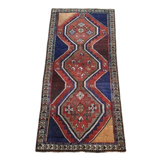 1930s Vintage Persian Gabbeh Tribal Rug - 4′ × 8′1″ For Sale