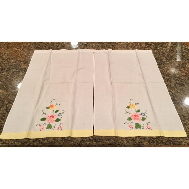 Springtime Floral Embroidered Tea Towels - a Pair - Image 5 of 5