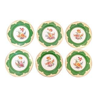 P. T. Tirschenreuth, Antique Hand-Painted Porcelain Plates, Bavaria For Sale